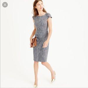 J. Crew Flecked Tweed Petal Sleeve Sheath Dress 2